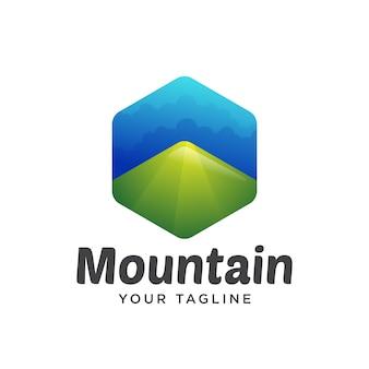 Dégradé logo montagne