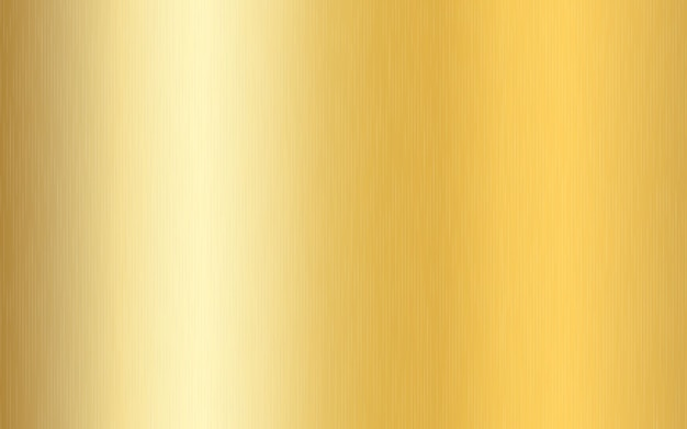 Dégradé métallique doré avec rayures. effet de texture de surface de feuille d'or.