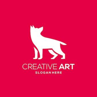 Dégradé moderne coloré de logo de loup