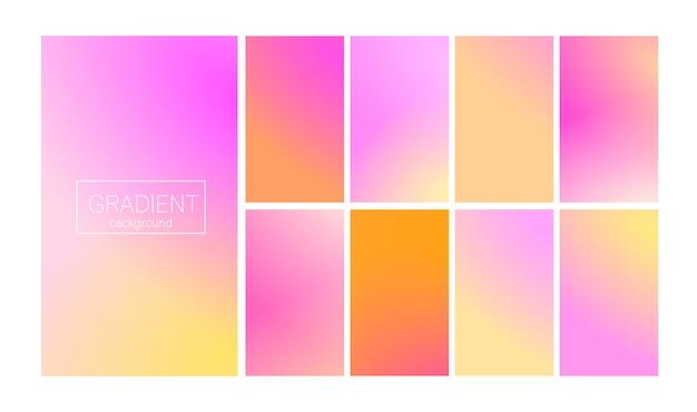 Dégradé moderne mis abstrait