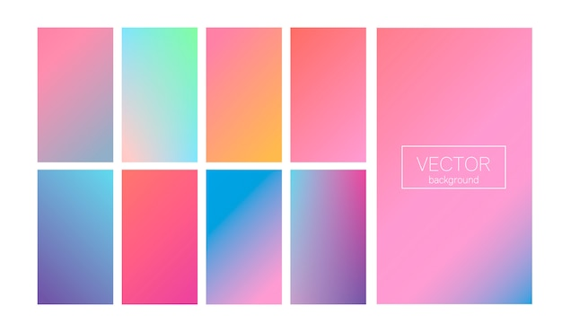 Dégradé moderne mis couleur abstraite
