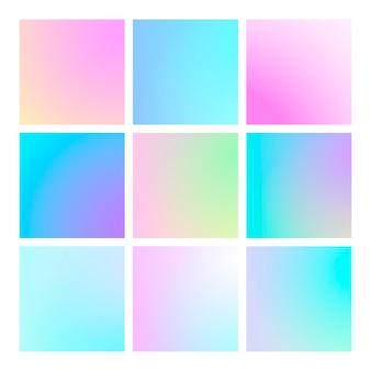 Dégradé moderne serti d'arrière-plans abstraits carrés.