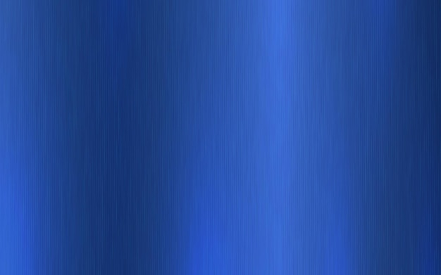 Dégradé radial métallique bleu avec rayures. effet de texture de surface de feuille bleue.