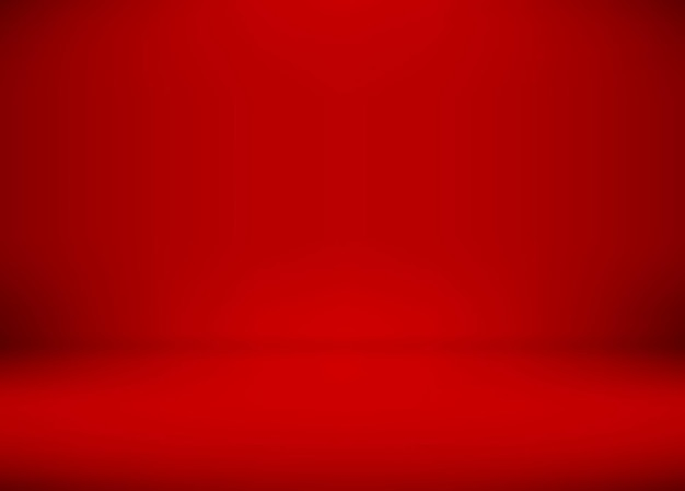 Dégradé de salle de studio rouge utilisé pour l'arrière-plan, modèle de maquette pour l'affichage du produit.
