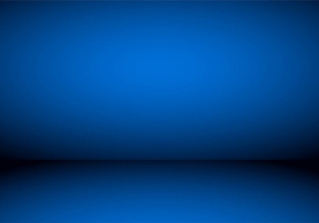 Dégradé de studio de chambre vide bleu