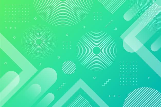 Dégradé vert bleu abstrait géométrique