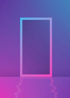 Dégradé violet du cadre rectangle