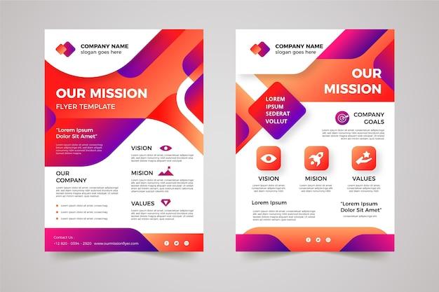 Dégrader notre modèle de flyers de mission