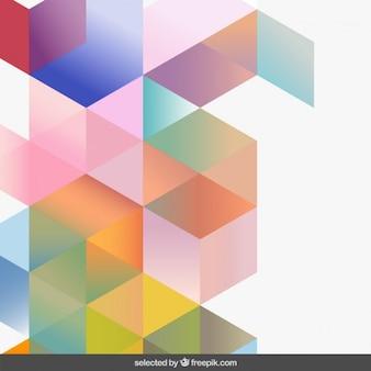 Les dégradés de couleurs de fond géométrique