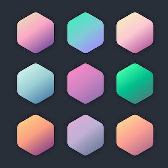 Dégradés de couleurs pastel