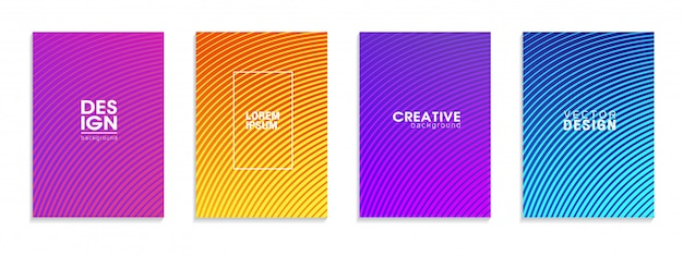 Dégradés de demi-teintes colorés. futurs motifs géométriques.