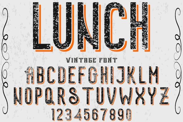 Déjeuner de conception d'étiquette alphabet
