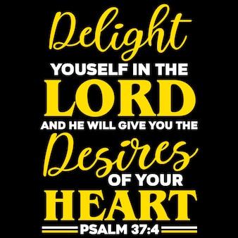 Délectez-vous dans le seigneur