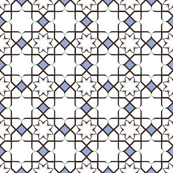 Délicat motif de fleur stylisée sans couture élégante en style oriental