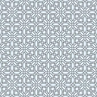 Délicat motif floral abstrait sans soudure