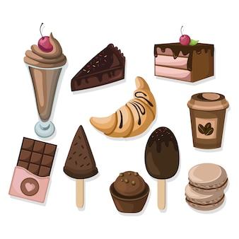 Délicieuse collection de desserts