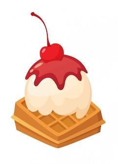 Délicieuse illustration de crème glacée. objet isolé