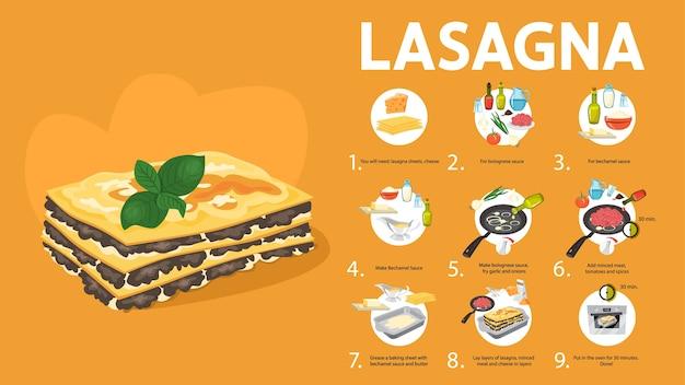 Délicieuse recette de lasagnes pour cuisiner à la maison