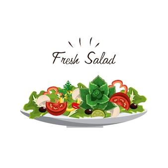 Délicieuse salade de légumes frais