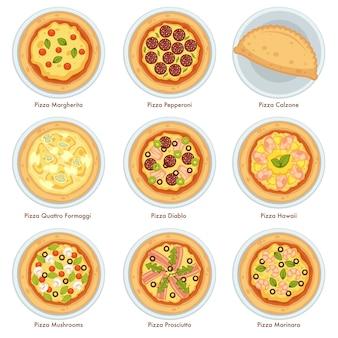 Délicieuses pizzas italiennes