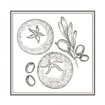 Délicieuses tomates et olives