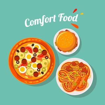 Délicieux concept de nourriture de confort