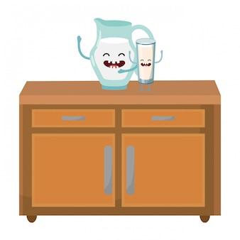 Délicieux dessin animé au lait