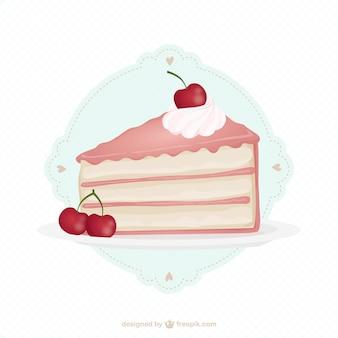 Délicieux gâteau de cerise