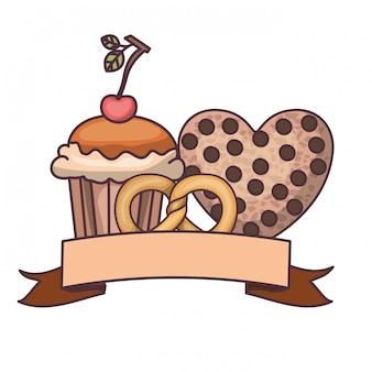 Délicieux gâteaux et biscuits de boulangerie