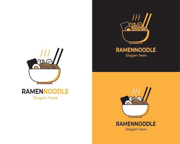Délicieux logo de nouilles ramen