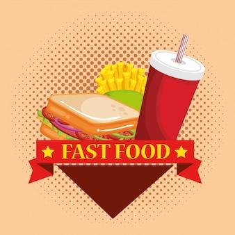 Délicieux menu fast food