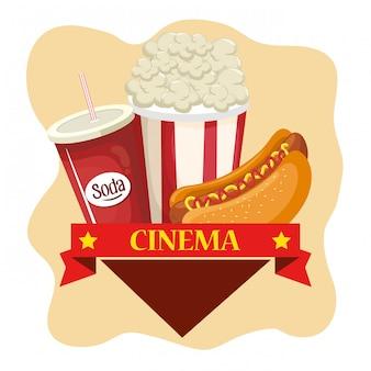 Délicieux menu de nourriture de cinéma