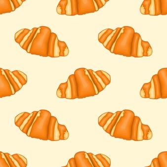 Délicieux motif de croissants chauds