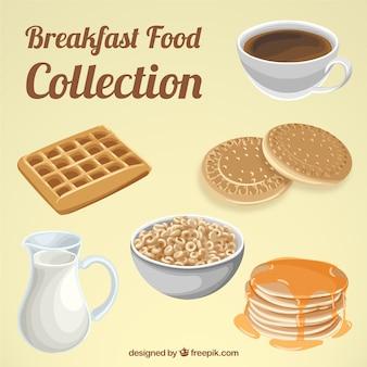 Délicieux petit déjeuner avec des éléments nutritifs