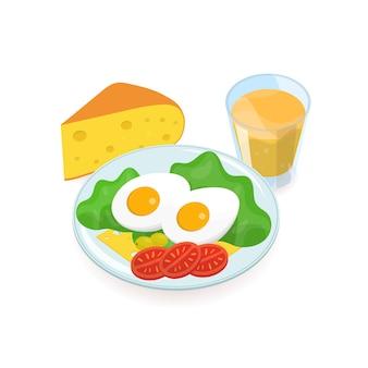 Délicieux petit déjeuner sain. nourriture matinale savoureuse et nutritive.