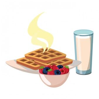 Délicieux petit déjeuner savoureux
