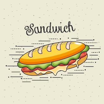 Délicieux sandwich repas de restauration rapide