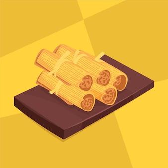 Délicieux tamales plats bio