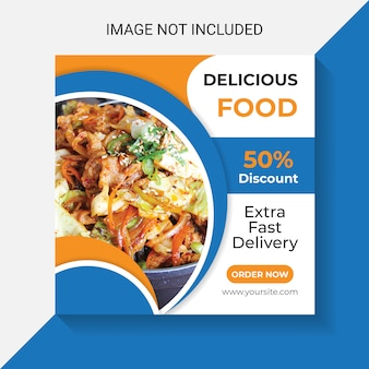 Delicious food and restaurant food social media insta post