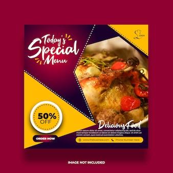 Delicious food restaurant social menu media promotion post