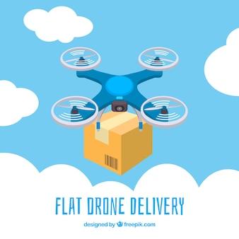 Delivery drone parmi les nuages