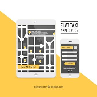 Demande de taxi dans la conception plate