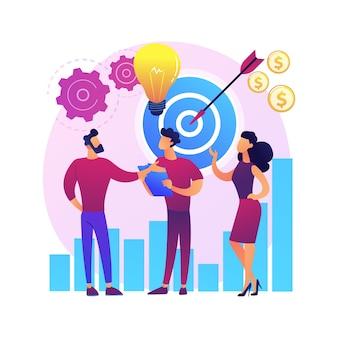 Démarrage, lancement de fusée, démarrage de projet. création d'entreprise, création d'entreprise. partenariat de coopération de travail d'équipe. personnages de dessins animés de gens d'affaires