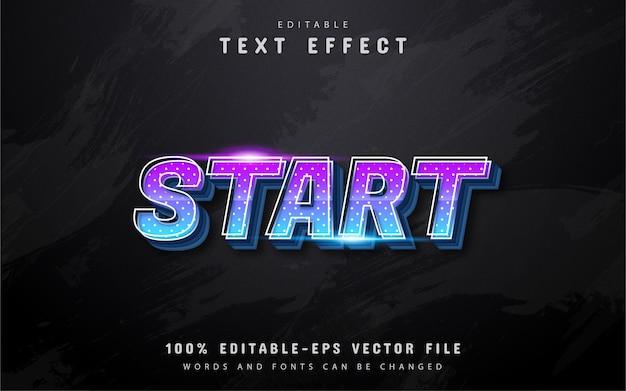 Démarrer l'effet de texte de style dégradé 3d