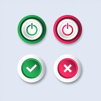 Démarrer le modèle de conception d'icône d'arrêt.