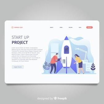 Démarrer la page de destination du projet avec une fusée