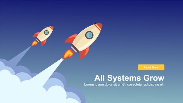 Démarrez la conception web de simple rocket