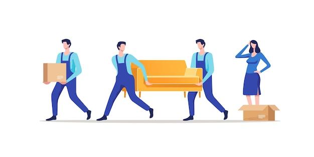 Déménagement. femme emballant des affaires pour déménager dans une nouvelle maison ou un nouvel appartement.