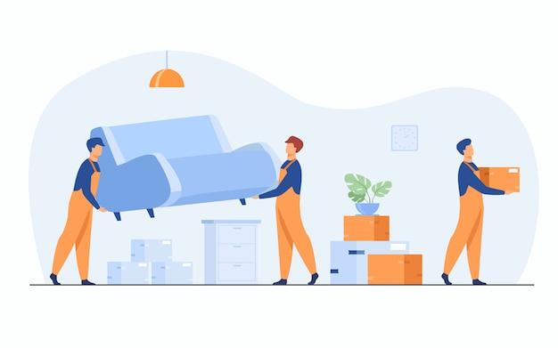 Déménagement vers un nouveau concept d'appartement