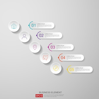 Demi-cercle abstrait pour affaires concept infographie avec nuage et fond de construction.